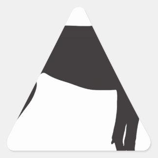 Silueta de great dane pegatina triangular