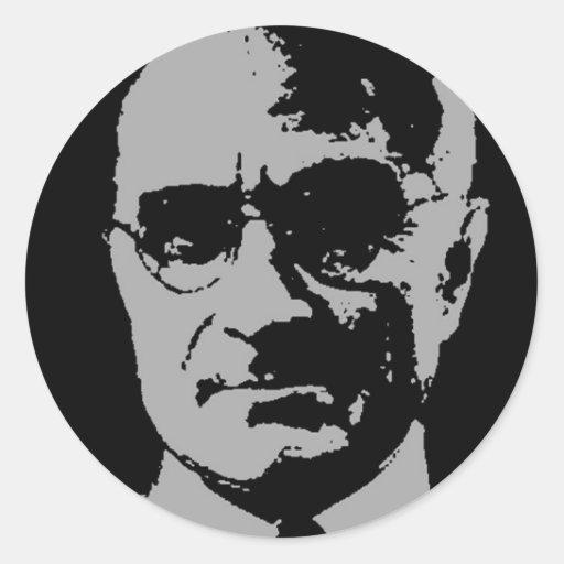 Silueta de Harry S. Truman Etiquetas