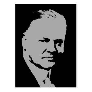 Silueta de Herbert Hoover Postal