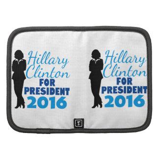 Silueta de Hillary Clinton Planificador
