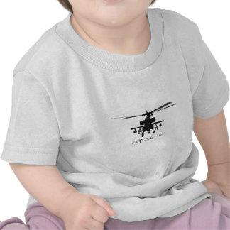Silueta de Hughes AH-64 Apache Camisetas