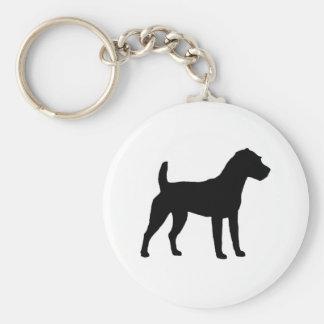 Silueta de Jack Russell Terrier Llaveros Personalizados