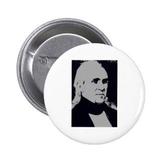 Silueta de James K. Polk Pin Redondo 5 Cm