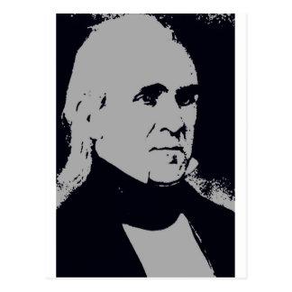 Silueta de James K. Polk Postal