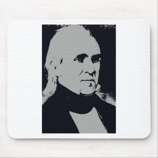 Silueta de James K. Polk Tapete De Ratones