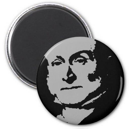 Silueta de John Quincy Adams Imán