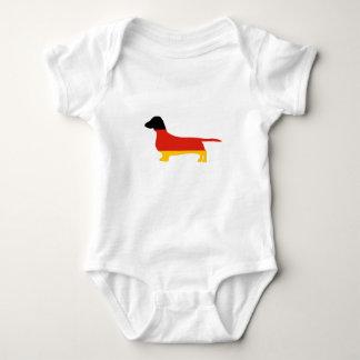 silueta de la Alemania-bandera del dachshund Body Para Bebé