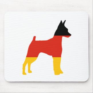 silueta de la Alemania-bandera del pinscher Tapetes De Raton
