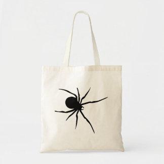 Silueta de la araña de la viuda negra bolsa