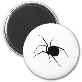 Silueta de la araña imán redondo 5 cm