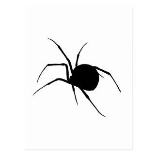 Silueta de la araña tarjetas postales