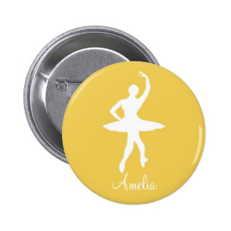 Silueta de la bailarina en el botón amarillo de Pi