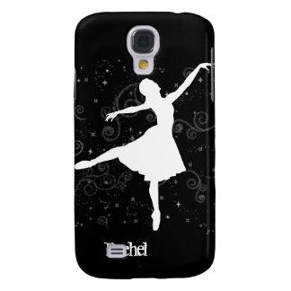 Silueta de la bailarina en iPhone3G negro Funda Para Galaxy S4