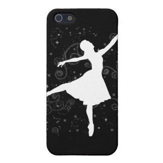 Silueta de la bailarina en la cubierta negra iPhon iPhone 5 Fundas