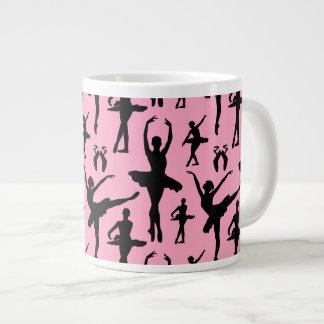 Silueta de la bailarina taza grande
