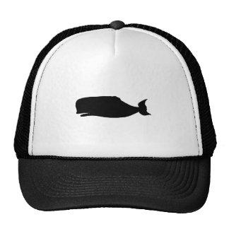 Silueta de la ballena gorros bordados