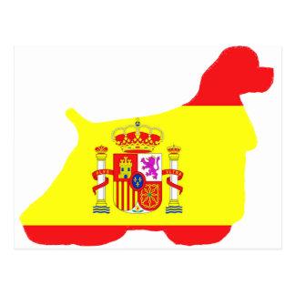 silueta de la bandera de cocker spaniel