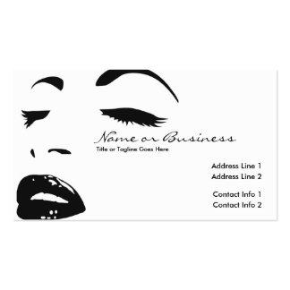 silueta de la belleza tarjeta de negocio
