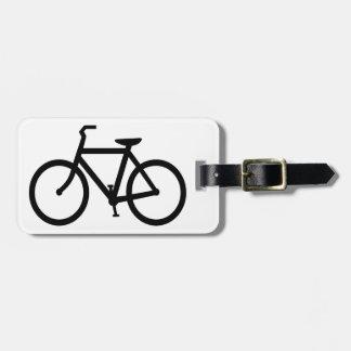 Silueta de la bicicleta etiquetas bolsas