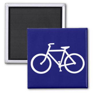 silueta de la bicicleta imán cuadrado
