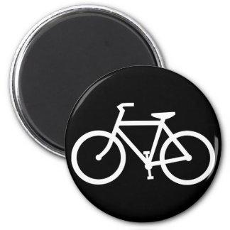 silueta de la bicicleta imán redondo 5 cm