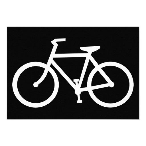 silueta de la bicicleta invitaciones personalizada