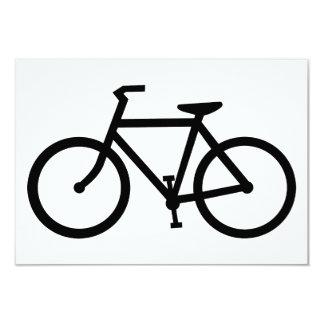 silueta de la bicicleta anuncio