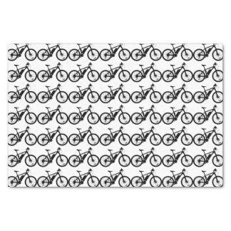 Silueta de la bicicleta papel de seda
