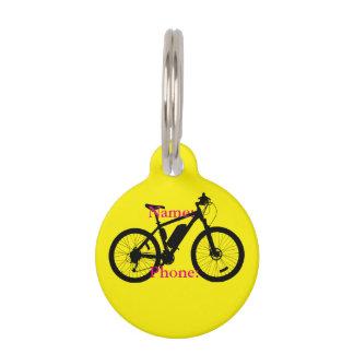 Silueta de la bicicleta placas para mascotas