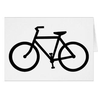 silueta de la bicicleta tarjeton