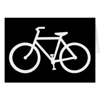 silueta de la bicicleta tarjeta