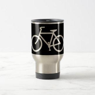 silueta de la bicicleta taza de viaje de acero inoxidable