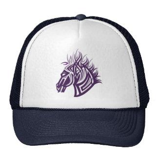 silueta de la cabeza de caballo gorras de camionero