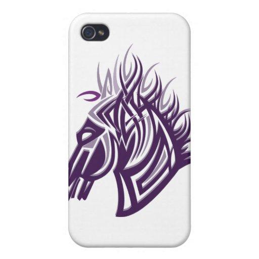 silueta de la cabeza de caballo iPhone 4 protector