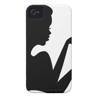 Silueta de la caja de regalo de la abertura del iPhone 4 Case-Mate cárcasas