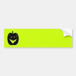 Silueta de la calabaza de Halloween Negro Etiqueta De Parachoque