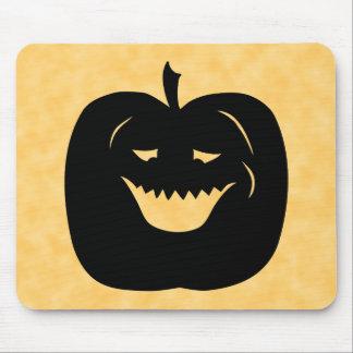 Silueta de la calabaza de Halloween Negro Alfombrilla De Ratones