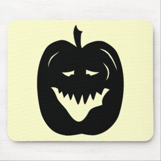 Silueta de la calabaza de Halloween Negro Tapete De Raton