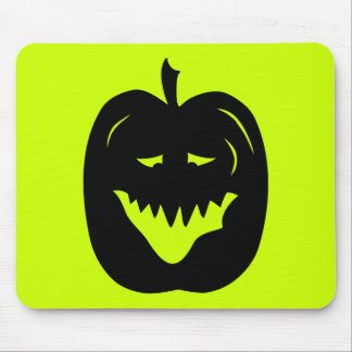 Silueta de la calabaza de Halloween Negro Alfombrillas De Ratones