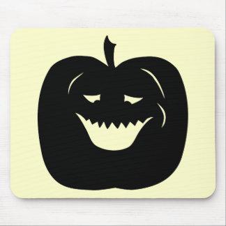 Silueta de la calabaza de Halloween Negro Tapetes De Raton