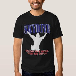 Silueta de la camisa de Skydiving (oscura)