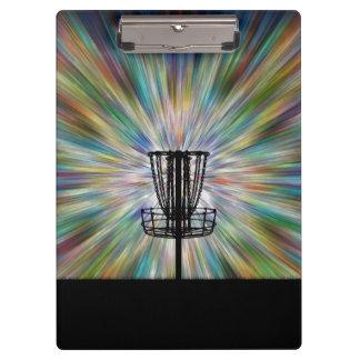 Silueta de la cesta del golf del disco