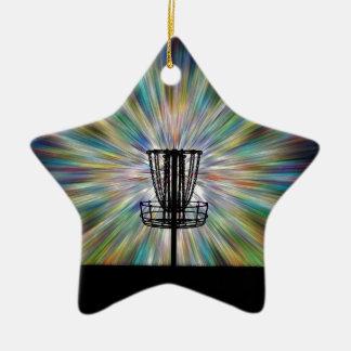 Silueta de la cesta del golf del disco ornamento para reyes magos