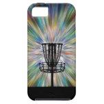 Silueta de la cesta del golf del disco iPhone 5 Case-Mate coberturas