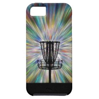 Silueta de la cesta del golf del disco iPhone 5 funda
