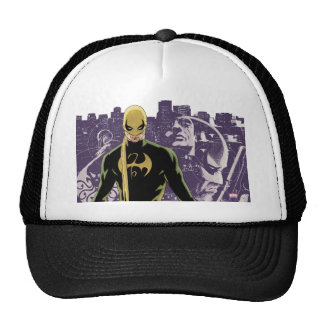 Silueta de la ciudad del Iron Fist Gorra