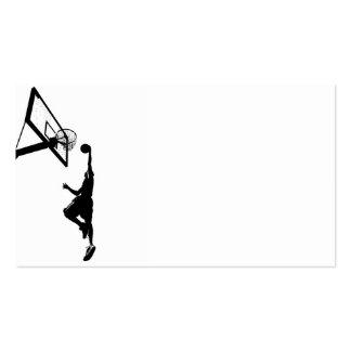 Silueta de la clavada del baloncesto tarjeta de visita