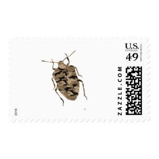 Silueta de la cucaracha del camuflaje timbres postales