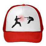 Silueta de la energía de los artes marciales gorras de camionero