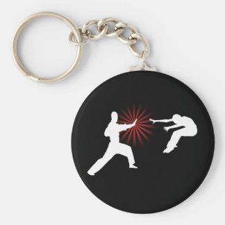 Silueta de la energía de los artes marciales llavero redondo tipo pin